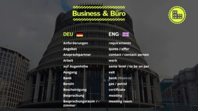 Business & Büro Englisch